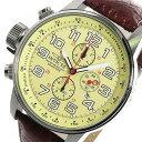 インヴィクタ INVICTA クロノグラフ クオーツ メンズ 腕時計 2772 アイボリー ブラウン 100m防水 レザーベルト 人気 ブランド インビクタ腕時計 インヴィクタ腕時計 激安 セール sale 男性 ギフト プレゼント