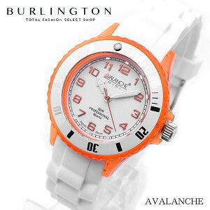 送料無料 AVALANCHE アバランチ 腕時計 レディース 時計 オレンジ ホワイト 白 人気 ブランド クオーツ アナログ アヴァランチ 可愛い かわいい オススメ ランキング 女性 プレゼント ギフト