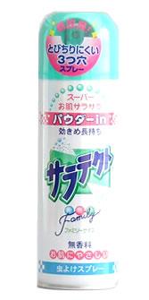 アース製薬虫よけスプレーサラテクトパウダーイン無香料ファミリーサイズ(200ml)