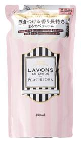 ラボン ルランジェ ラ・ボン for PEACH JOHN 柔軟剤 シークレットブロッサム つめかえ用 (480mL) 詰め替え用 ピーチジョン ウェルネス