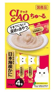 いなばペットフード CIAO チャオ ちゅ〜る とりささみ&日本海産かに (14g×4本)