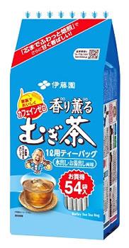 伊藤園香り薫るむぎ茶ティーバッグ(54袋入)麦茶ノンカフェイン1L用ティーパック水出し・お湯出し両用