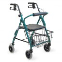 カワムラサイクル 歩行車 KW20 | 送料無料 四輪 歩行車 折り畳み 折りたたみ 座面付 座席付 座れる ハンドル高さ調節 歩行補助 サポート 押し車 施設