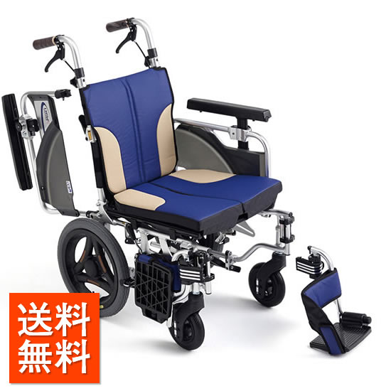 車椅子 コンパクト モジュール 低床 足こぎ MIKI ミキ スキットシリーズ SKT-2000Lo 解除用 クッション付:フローマート