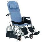 松永製作所 介助用 スチール製リクライニング車椅子 CM-541 | 車椅子 リクライニング シートベルト 安全ベルト エレベーティング 介助式 車いす 車イス くるまいす 丈夫 頑丈 安い 施設 病院