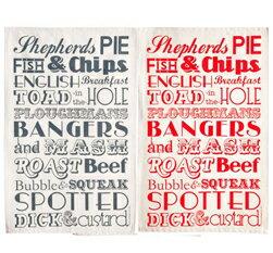 Victoria Eggs球座毛巾午餐墊子餐桌餐巾地方墊鋪墊的東西交叉英國雜貨倫敦English Dinner廚房英國製造禮物victt05 red grey午餐墊子球座毛巾聖誕禮物禮物