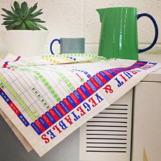 斯圖亞特 · 加德納茶巾餐巾布餐墊躺的表英國設計師英國廚房小工具蔬菜和水果 stuttfruit 墊茶巾餐墊餐墊茶巾的禮物
