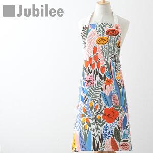 ジュビリー Jubilee フローラル フラワー 花柄 コットン エプロン かわいい おしゃれ ブランド イギリス デザイナー 高級サテンコットン100% ギフト お祝い 引っ越し 新居 プレゼント 女性用 子供 家 おうち 在宅 おしゃれ