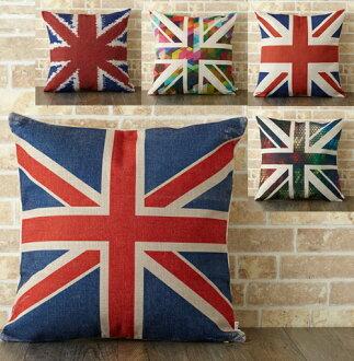 靠墊覆蓋物北歐設計45*45cm豐富多彩的靠墊亞麻布天然亞麻手傭人靠墊靠墊Jubilee靠墊設計靠墊英國國旗英國聖誕禮物禮物