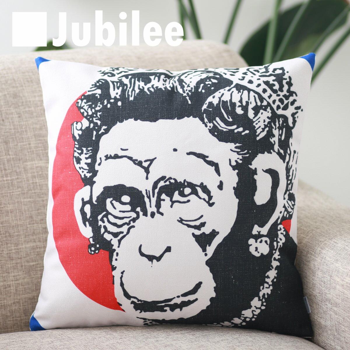 クッションカバー, 角型  SALE Banksy Monkey Queen 4545cm Jubilee London