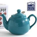 【訳あり】 London Pottery ティーポット 550ml 英国ブランド ロンドン ポタリー 2カップ 陶器 ボックス付き 無地 プレーン かわいい 紅茶 コーヒー ホーロー 琺瑯 新生活 新居 引越し 新築 記念日 ストレーナー