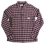 【2色有り】GANGSTERVILLEメンズチェックシャツ長袖シャツ19AW29THUGCHECKSHIRT