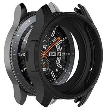 XIHAMA For galaxy watch 46mm スマートウォッチ 保護ケース TPUフレーム シリコン製 カバー 耐衝撃 (galaxy watch 46mm, 黒)