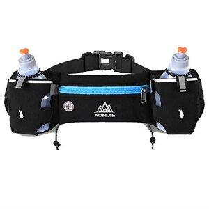 TRIWONDER ランニング ポーチ ウエストバッグ ウエストポーチ 防水 反射ストリップ ヘッドホン穴付き ヒップバッグ 登山 サイクリング メンズ レディーズ