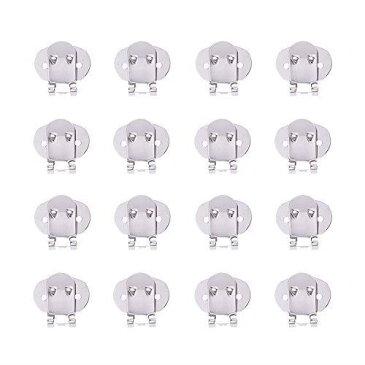 PH PandaHall 約40個/箱 ステンレス製 クリップ ワンタッチ シューズクリップ 靴飾りクリップ パンプス飾り付け メタルバックル バッグ・帽子・ストール・サンダル・手袋など DIY装飾 金具 アクセサリーパーツ