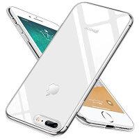iphone7Plusケース/iphone8Plusケース クリア 耐衝撃 透明 tpu シリコン 防塵 指紋防止 ソフト おしゃれ かわいい Qi 充電 対応 最軽量 超薄型 一体型 人気 ケース クリア