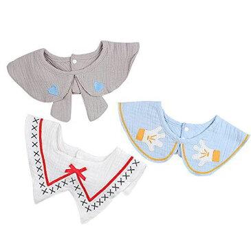 XIAOHAWANG スタイ ベビー ガーゼ スタイ 男の子 よだれかけ 女の子 赤ちゃん ビブ 100%ガーゼ 吸水 ソフト 3枚セット お食事・授乳・おでかけ・お出産祝い(よだれかけセットD)