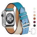 WFEAGL コンパチブル Apple Watch バンド, は本革を使い, iwatch series 5/4/3/2/1 レザー製,Sport/Edition向けのバンド交換ストラップです コンパチブル アップルウォッチ バンド (42mm 44mm, 二重巻き型 青/薄い青/象牙の白)