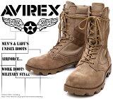 [AVIREX]アヴィレックス(アビレックス)AV-2001COMBATコンバットブーツBeigeSuedeベージュスエードメンズ&レディース本革ミリタリーショートブーツ