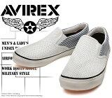 [AVIREX]アヴィレックス(アビレックス)AV-3525FREEDOM-MESHWhiteメッシュ・ホワイトメンズ&レディーススリッポンスニーカー