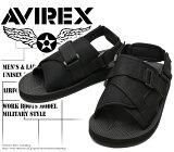 [AVIREX]アヴィレックス(アビレックス)AV-4530PIRATEBlackブラックメンズ&レディースサンダル