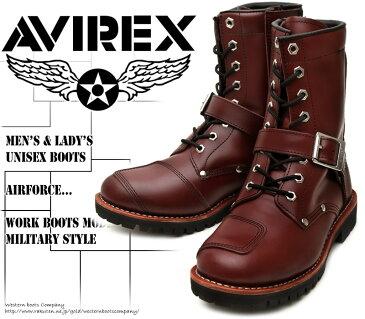 [AVIREX] アヴィレックス(アビレックス) AV-2100 YAMATO ヤマト Cherry Brown チェリーブラウン メンズ&レディース 本革 ライダースブーツ ミリタリーブーツ ショートブーツ