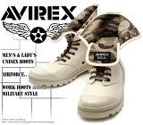 [AVIREX] アヴィレックス(アビレックス) AV-3400 SCORPION-HI Off White オフ・ホワイト(アイボリー) メンズ&レディース 本革 スニーカーブーツ
