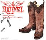 [Botas RUDEL] ルーデル RUDJ001 Crater Cognac クレーター・ブラウン レディース 本革 ウエスタンブーツ カウガールブーツ ロングブーツ