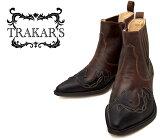 [TRAKAR'S] トラッカーズ 14300 Black×Brown ブラック×ブラウン メンズ レディース 本革 ウエスタンブーツ ショートブーツ