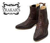 [TRAKAR'S] トラッカーズ 14304 Brown-Liz×Type-D ブラウン メンズ レディース 本革 ウエスタンブーツ ショートブーツ