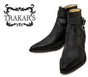 【送料無料】【サイズ交換無料】TRAKAR'Sトラッカーズ14310Black×Blackブラックメンズ本革ウエスタンブーツショートブーツ