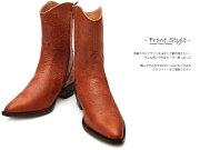 【送料無料】【サイズ交換無料】【別注品】TRAKAR'SトラッカーズT-500M-Brown-Flw×M-brown-Flwミディアムブラウン・フラワー(型押)メンズ&レディース本革ショートウエスタンカウボーイブーツ