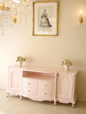 輸入家具 オーダー家具 プリンセス家具 ビバリーヒルズ サイドボード160 バービーピンク