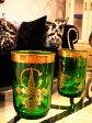 輸入雑貨■モロッコ■グラス■グリーン