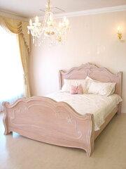 輸入家具■ロココ調■プリンセス家具■ラ・シェル■ベッド■クィーンサイズ