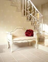 プリンセス家具■カウチソファ■ホワイト■シェルの彫刻