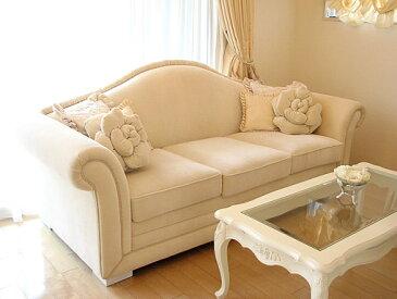 輸入家具■オーダー家具■プリンセス家具■プリンセスソファ■3P■ホワイトベルベット