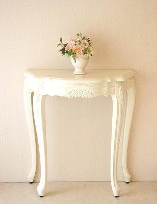 輸入家具■オーダー家具■コンソール■ホワイト ■薔薇の彫刻