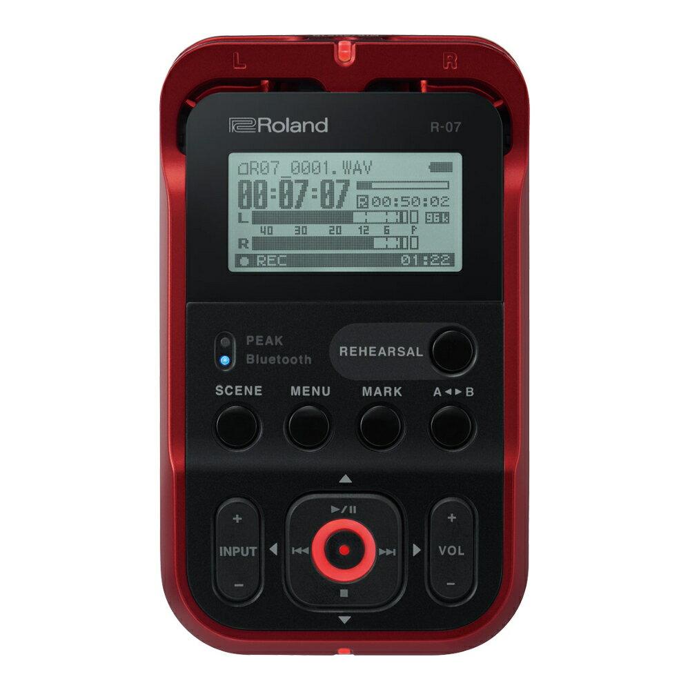 マルチトラックレコーダー, メモリーMTR Roland R-07 High Resolution Audio Recorder RDRedBluetooth