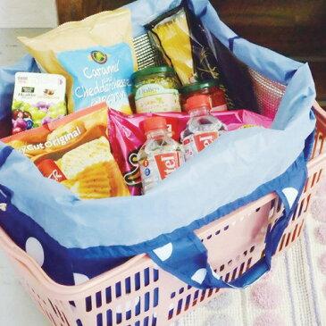 【在庫限り】ショッピングバッグ (SHOPPING BAG) 買い物バッグ 保冷 チルド カゴバッグ エコバッグ レジ袋 エコ 星 スター ボーダー キリム ノルディック【ニコット】(SUPER)(z)