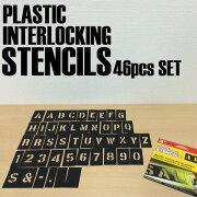 プラスチック ステンシル プレート アルファベット