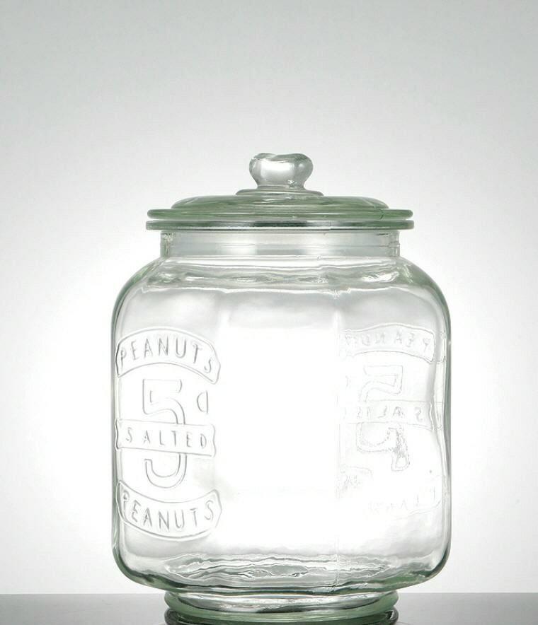 GLASS COOKIE JAR 7L ガラスクッキージャー 7L【ダルトン DULTON】米びつ 重量5kg ライスボックス 保存容器 ガラス瓶【ラッピング・のし不可】