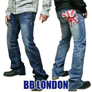 BB LONDON(ビービーロンドン) Denim @CAMDEN BB122 2color メンズデニム ブーツカット フレア ユニオンジャック コットン ジーンズ【\14,000】【YDKG-kd】【smtb-kd】