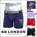 BB LONDON Boxer @Icon Empire2ユニオンジャック-3color ボクサーブリーフ/ボクサーパンツ (ビービーロ...
