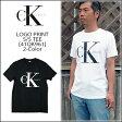 【即納】CALVIN KLEIN JEANS(カルバンクラインジーンズ) S/S TEE[41QK961]クラッシックロゴ CK Tシャツ 半袖 白 黒【smtb-kd】【RCP】 【\5,900】