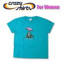 Crazy Shirts(クレイジーシャツ)-Womens- S/S Mini Tee @Kliban Cats[2004116] UMBRELLA CAT クリバンキャット/半袖/Tシャツ/HAWAII/ハワイ/ネコレディース【RCP】