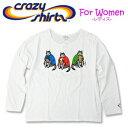 Crazy Shirts(クレイジーシャツ)-Womens- L/S Scoop Neck Tee @Kliban Cat[2008091] ICE CREAM CAT クリバンキャット 長袖 Tシャツ HAWAII ハワイ ネコレディース【RCP】
