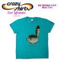Crazy Shirts(クレイジーシャツ)-Womens- S/S Mini Tee @Kliban Cats[2009933] BAD HAIR DAY クリバンキャット/半袖/Tシャツ/HAWAII/ハワイ/ネコレディース【RCP】