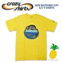 Crazy Shirts(クレイジーシャツ) S/S Tee @PINEAPPLE DYED[2010735] SUN BATHING CAT クリバンキャット 半袖 Tシャツ HAWAII ハワイ ネコ パイナップル染め【RCP】ヴィンテージウォッシュ 大きめサイズ