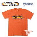 Crazy Shirts(クレイジーシャツ) S/S Tee @TANGERINE DYED[2012548] CANOE CATSクリバンキャット 半袖 Tシャツ HAWAII ハワイ お土産 ネコ タンジェリンオレンジ【RCP】